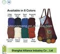 Shopping, pic nic, tailgates, scuola, giocattoli per il trasporto di maglia di cotone stringa sacchetto netto