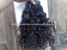 remy hair extension curly temple hair