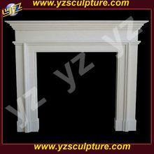 White marble italian fireplace mantel FPSN-F002L