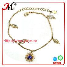S1209 Jingmei bracelet vners charm leaf flower