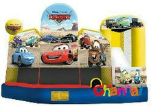 Cartoon Cars inflatable jumping combo
