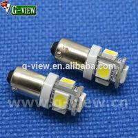 Superbright 194 h6w ba9s 5 smd led for car 5050 smd bulb