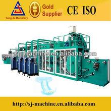 Half Servo China High Speed Basic Baby Diaper Machine