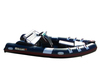 (CE) 4.7m fiberglass double layers v-deep inflatable fishing boat for sale