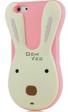 Soft Silicone Rabbit Mobile Phone Case For iPhone 4 4S