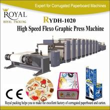 4 color, 6 Color plastic bag flexo printing machine RYDH-1200