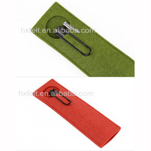 Manufacturer!! Promotional gift felt pencil case with customized colors and logo printed