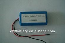 Shenzhen economic popular safe rechargeable 18650 2600mAh 7.4v li-ion battery pack