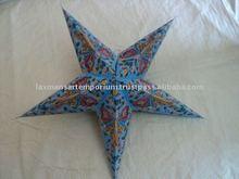 paper star lanterns glitter printed