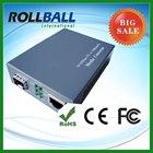 10g 1550nm fast ethernet media fiber optic converter