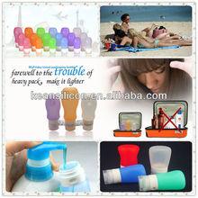 Traveling Cosmetics Packing Bottle/Refillable Silicone Travel Lquid Tube Wholesale