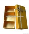 El impreso de oro de la tapa y la base rígida caja de regalo, embalaje caja de regalo, de papel de regalo caja de embalaje