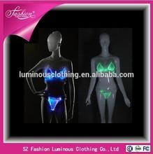 New luminous women lingerie glow in the dark underwear sexy underwear