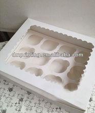 Custom Cheap White Cupcake Boxes 2013