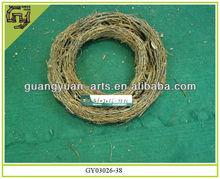 home decor Christmas wreath natural rattan garland