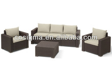 2014 Top Sale California Lounge Outdoor Poly Rattan Modular Homes