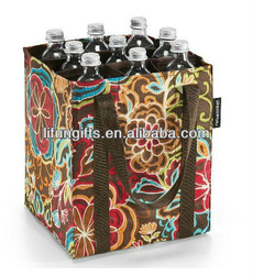 2014 customized polyester wine bottle tote bags