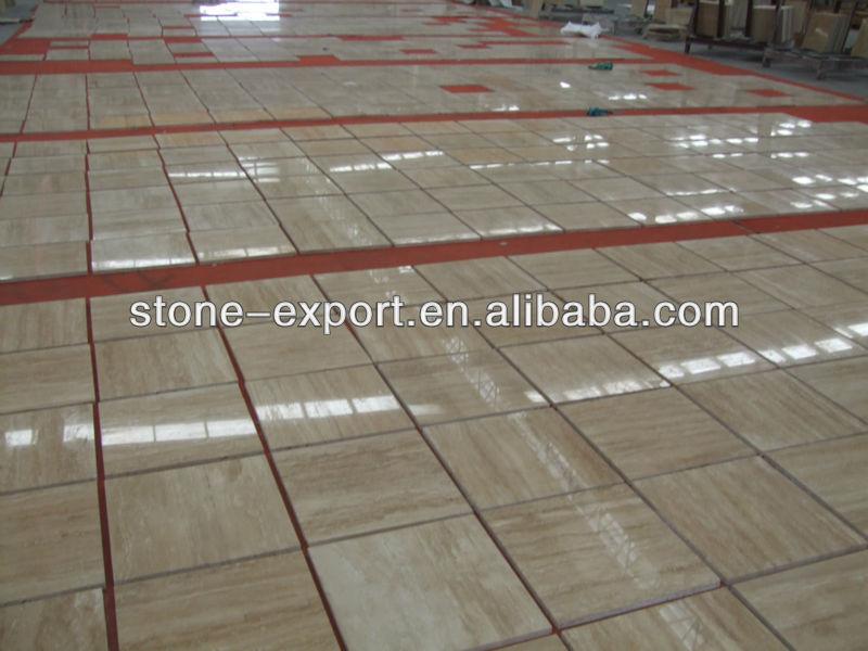 Beige travertine marble tile