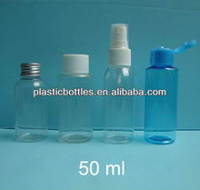 2 oz/ 50ml clear PET bottle with 20mm closures