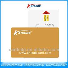 Custom plastic pvc contact ic card for hotal key lock