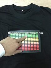 Much fashionable designs for 100% cotton el luminous t-shirt