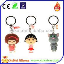 High quality silicone key chain with custom design