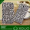 Leopard print stand leather wallet with belt clip Case For Cellular Phone for samsung galaxy mega 5.8 i9152