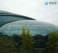 Personalizado de alta calidad curva de vidrio doblado templado cúpula, vidrio doblado en caliente cúpula de la construcción