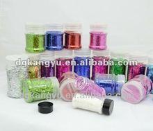 Pink diamond colorful glitter powder