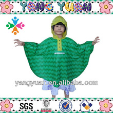 Green Rain Poncho Pattern for Children