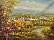 100%handpainted vineyard landscape painting