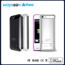 Ultra Slim Backup Battery Case for iPhone5 Power Case with holder