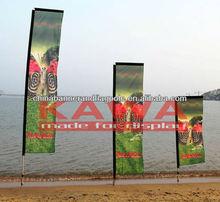 advertising on street Suqare flag