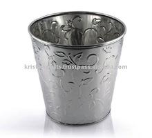 Wine Bucket with Flower Embossing