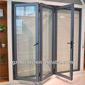 Metais estilo moderno porta de dobradura de alumínio, Home design moderno portas dobráveis com vidro