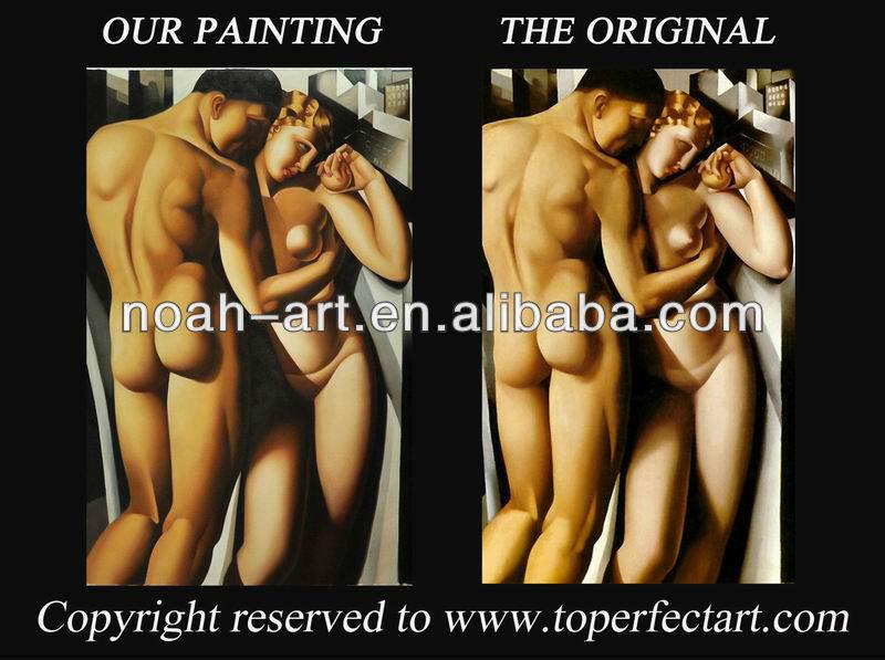 Lempicka Adam And Eve Adam et Eve Main Peinture