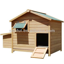 Spacious wooden chicken coop