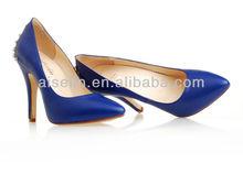 cheap shoes under 10 dollars deep blue women point toe pumps patent leather women hot sale party heels