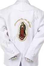 2146 bianco baby boy bambino abbigliamento formale battesimo battesimo cerimonia ricamo jacquard Guadalupe 5pc tuta tuxedo s m l xl