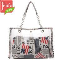 2014 Fancy Fabulous PVC Lady Beach Bag Two Pcs Set