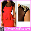Wholesale 2013 Latest Fashion Red Studded Rivets Formal New Dress