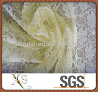 Cotton and Nylon Raschel Lace Fabric