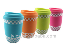 Factory direct wholesale 320cc flat base ceramic funny mugs