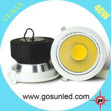 high quality cob led downlight 45w 40w 30w 20w 15w 10w 6w super brightness Ra80 135lm/w downlight