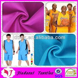 100% polyester fabric quick dry sportswear fabric breathing and moisture mesh sportswear fabric