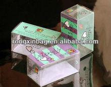 eco-friendly clear customerized pvc pillow box wth handle