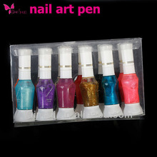 2013 Colorful Two Way Nail Polish Art Pen for Nail Drawing