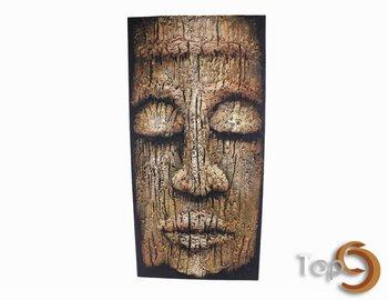Lukisan Timbul Kepala Borneo