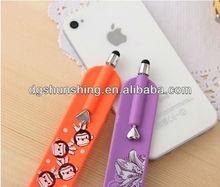 2014 funny silicone slap wristband stylus pen