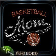 love basketball rhinestone iron on basketball